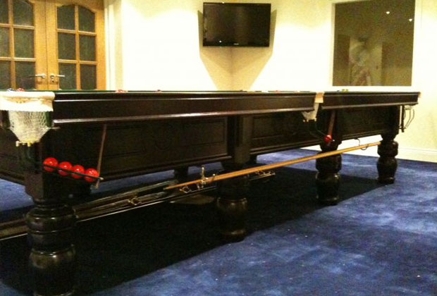 FULL SIZE BCE WESTBURY SNOOKER TABLE - STEEL BLOCK